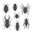 beetle silhouette vector image