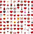 Love 100 Concept Shape Design Set 22 vector image