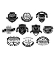 Banners and badges for retail design vector image