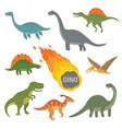 happy cartoon dinosaur vector image