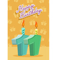 11 years celebration 11nd happy birthday vector image