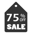 75 off sale discount banner sale discount icon vector image