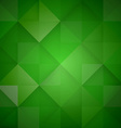 Abstract mosaic green background vector image vector image