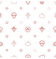 autumn icons pattern seamless white background vector image vector image
