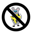 ban mouse icon vector image