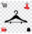 black clothes hanger icon vector image vector image