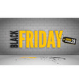 black friday coming yellow banner template vector image vector image
