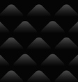 black wave pattern seamless background vector image vector image