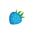 blue cartoon strawberry isolated on white vector image