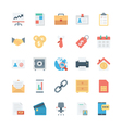 Business and Office Colored Icons 1 vector image vector image