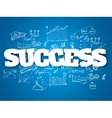 Business background Success concept vector image vector image