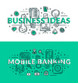 Business Ideas and Mobile Banking Concept Colored vector image