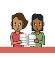 business teamwork cartoon vector image vector image