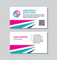 business visit card template with logo - concept d vector image vector image