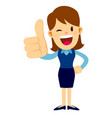 business woman with her thumbs up hand sign vector image vector image