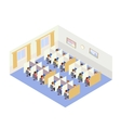 Call Center Jobs People Isometric style vector image vector image