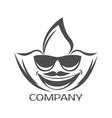 cannabis leaf and mans face logo vector image