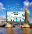 Career in Business concept with Doodle design vector image vector image