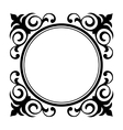 circle ornamental decorative frame vector image vector image