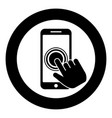 click on touch screen smartphone modern vector image vector image