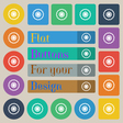cogwheel icon sign Set of twenty colored flat vector image