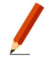 colorful cartoon black pencil vector image