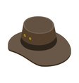 Cowboy hat icon isometric 3d style vector image vector image