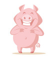 cute pig isolated on white vector image vector image
