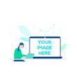 data analysis - colorful flat design style vector image