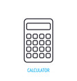 electronic calculator outline icon vector image