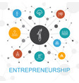 entrepreneurship trendy web concept with icons vector image