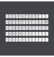 Flat gray paper countdown timer vector image