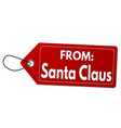 from santa claus label or price tag vector image vector image