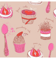 Fruit Cakes Pattern vector image vector image