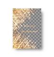glitter gold background vector image vector image