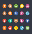 Glyphs Colored Icons 20 vector image