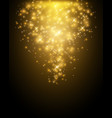 golden particles falling down on dark background vector image vector image