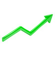 green financial up moving arrow rising trend vector image