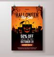 halloween sale flyer with vector image vector image