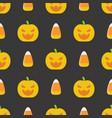 halloween seamless pattern flat design vector image