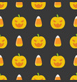 halloween seamless pattern flat design with vector image