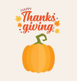 happy thanksgiving pumpkin vector image