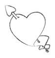 heart shape symbol vector image vector image
