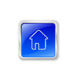 Home icon on blue button vector image vector image
