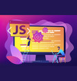 javascript concept vector image vector image