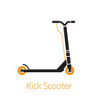 kick scooter outline logo symbol bw vector image