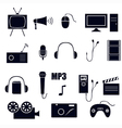 Media icons vector | Price: 1 Credit (USD $1)