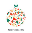merry christmas and happy new year abstract design vector image vector image