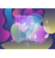 modern style abstraction with composition made of vector image vector image