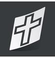 Monochrome christian cross sticker vector image
